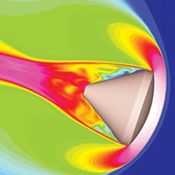 Plasma kolem tělesa vstupujícího do atmosféry.