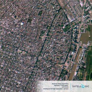 Snímek Buenos Aires pořízený družicí firmy Satellogic v roce 2017.