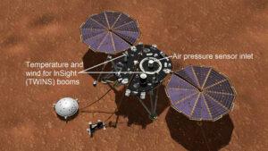Meteorologické přístroje na sondě InSight
