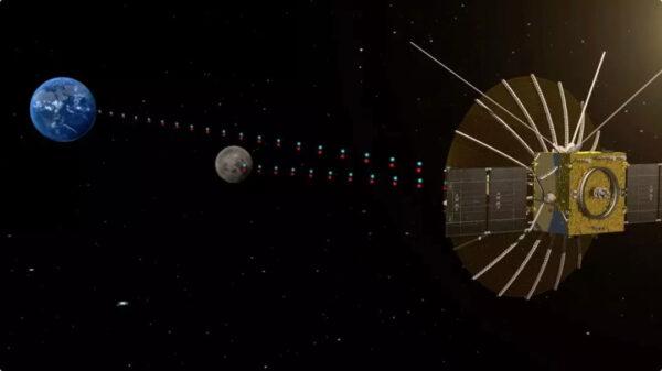 Družice Čchüe-čchiao zajistí komunikaci s přistávacím modulem (zdroj Chinese Academy of Sciences)