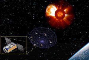 Vizualizace projektu SunRISE (Sun Radio Interferometer Space Experiment)