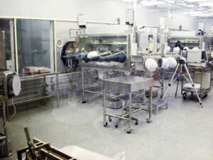 Část sekce pro práci s lunárními vzorky na Johnsonově středisku.