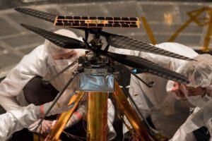 Helikoptéra pro Mars během testů