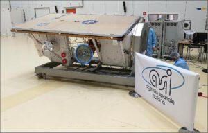 Družice PRISMA během předstartovní přípravy.