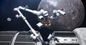 Umělecká představa kanadského robotického ramene Canadarm3