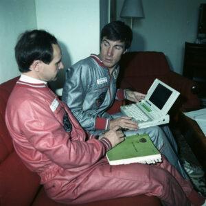 Anatolij Arcebarskij a Sergej Krikaljov během výcviku