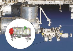 Vizualizace přístroje OCO-3 na modulu Kibó