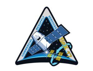 Logo aktuální mise od NASA. SpaceX dodá své vlastní (s tradičním čtyřlístkem) zhruba den před startem.