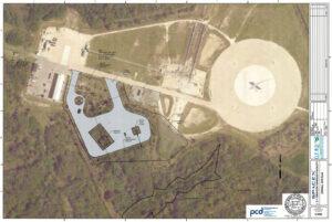 Mapa areálu, u Přistávací plochy 1, kde chtěla SpaceX pracovat s loděmi Dragon.