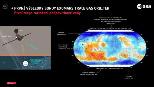 Mapa podpovrchového rozložení ledu z přístroje FREND je nejpodrobnější svého druhu v celé historii.