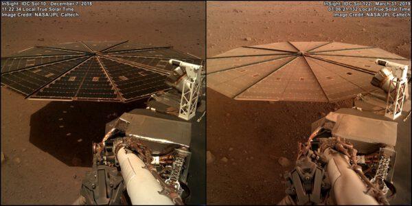 Solární panely landeru InSight