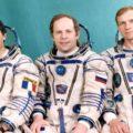 Posádka mise Antares-92 (zleva: Toginini, Solovjov, Avdějev)