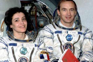 Claudie André-Deshays a Jean-Pierre Haigneré během výcviku pro misi Altair