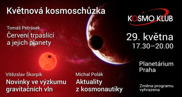 Pozvánka na květnovou kosmoschůzku zdroj: facebook.com