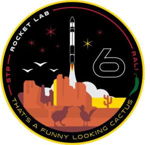 Logo mise STP-27RD od firmy Rocket Lab.