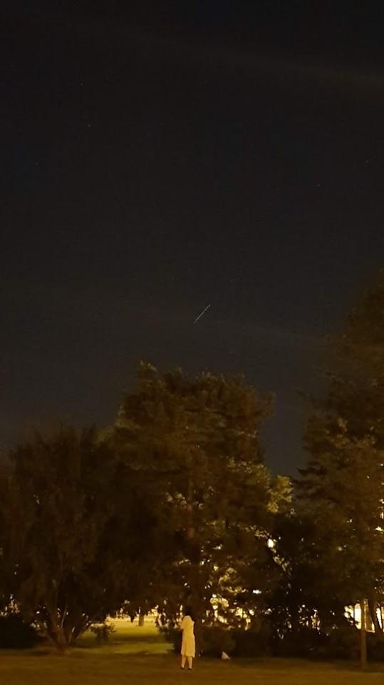 Přelet družic Starlink nad Českou republikou