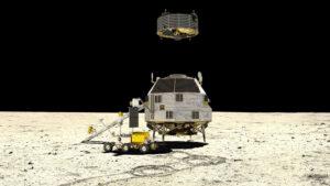 Vzletový modul landeru HERACLES startuje.