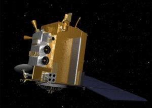 Vizualizace sondy LRO (Lunar Reconnaissance Orbiter)