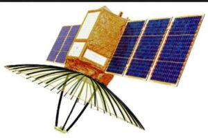 Umělecká představa radarové družice RISAT