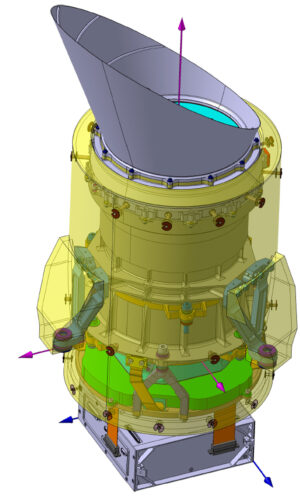 Schéma jednoho teleskopu mise PLATO.