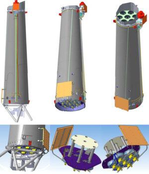 Průřez přístrojem ART-XC.