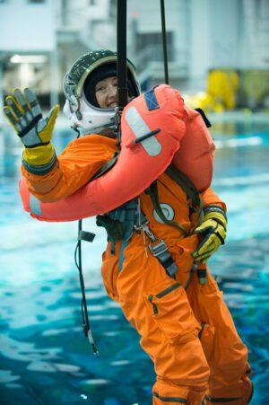 Christina Koch během zkoušek v programu Orion