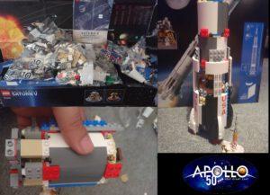 Stavebnice rakety Saturn V je komplexní a zabere mnoho hodin.