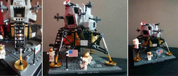 Hotový Lunární modul jehož součástí je i známá plaketa. Stavebnice má snad jen jednu vadu a to podobu figurek astronautů.