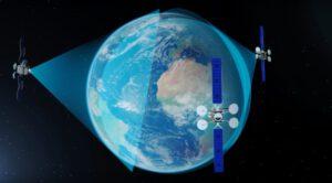 Vizualizace družic ViaSat 3