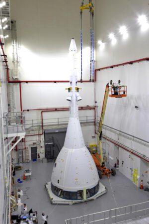 Orion a záchranná věžička pro misi AA-2.