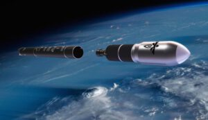 Vizualizace rakety Alpha.