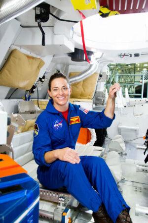 Nicole Mann v simulátoru Orionu
