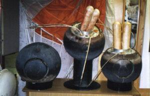 V muzeu konstrukční kanceláře Lavočkin jsou dnes k vidění návratové moduly všech tří úspěšných sond (zleva): Luna 16, 20 a 24.