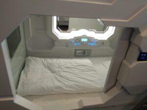 """Pokud máte rádi sci-fi a netrpíte klaustrofobií, """"kapslový hotel"""" rozhodně stojí za zkušenost."""