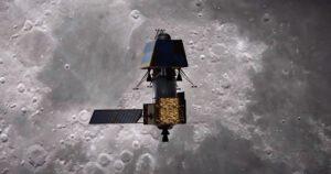 Umělecká představa indické měsíční sondy Čandraján-2