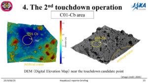 Oblast s označením C01-Cb se nachází jen kousek od kráteru a předpokládá se, že sem dopadla část vyvrženého materiálu.