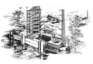 """Varianta """"mořského kosmodromu"""" byla svého času velmi lákavá; toto je další možná podoba."""
