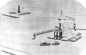 Laboratoř tryskových pohonů v Pasadeně svého času prosazovala pro let na Měsíc obří raketu sestavenou výhradně z motorů na tuhé pohonné látky. Měla startovat z oceánu, ale nikdy nebylo přikročeno k výběru místa.