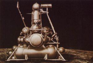 Takto měla vypadat Luna 15 po případném přistání na Měsíci.