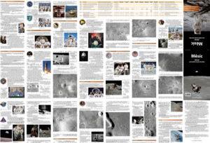 Zadní strana je pokryta mapami misí Apollo a poutavým vyprávěním Ondřeje Šamárka.