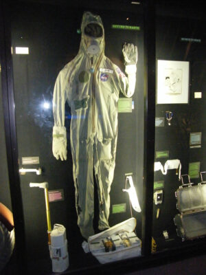 Ochranný oděv Edwina Aldrina v National Air and Space Museum (Washington, D.C.)