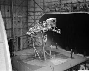 LLTV během zkoušek v aerodynamickém tunelu ve středisku NASA Langley