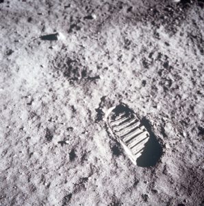 Stopa Buzze Aldrina na Měsíci