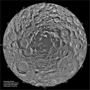 Jižní pól Měsíce z pohledu sondy Clementine
