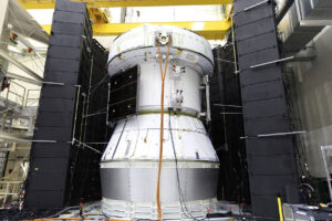 Test servisního modulu pro let Artemis 1 dne 22. května 2019