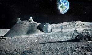 Měsíční základna vybudovaná pomocí 3D tiskáren v představách ESA