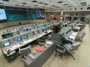 Zrekonstruované řídicí středisko v Houstonu