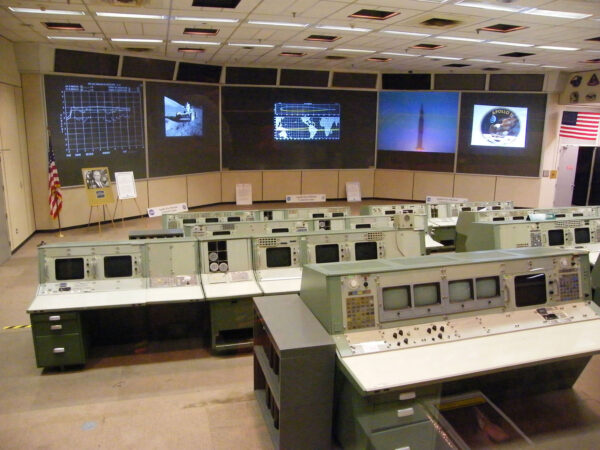 Řídicí středisko v Houstonu před rekonstrukcí (2008)