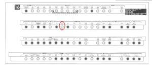 Panel číslo 16, červená elipsa zvýrazňuje inkriminovaný jistič.