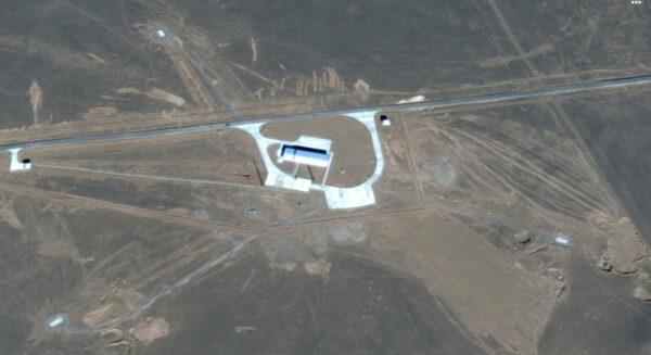 Místo startu rakety Kuaičou 1A z na kosmodromu Ťiou-čchüan.